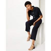 M&S Collection Collared Short Sleeve Jumpsuit