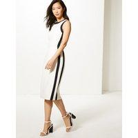 M&S Collection Colour Block Side Stripe Midi Bodycon Dress
