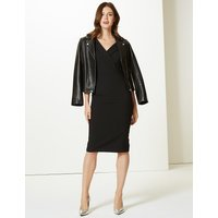 M&S Collection Double Crepe Bodycon Dress