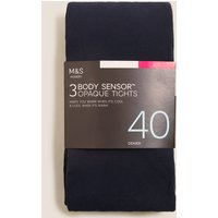 M&S Collection 3 Pair Pack 40 Denier Body Sensor Tights
