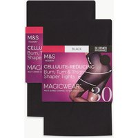 M&s Collection 2 Pair Pack 30 Denier Magicwear Shaping Tights