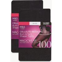 M&S Collection 2 Pair Pack 100 Denier Magicwear Shaping Tights