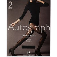 Autograph 2 Pair Pack 15 Denier Ladder Resist Shine Tights