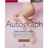 Autograph 5 Denier Open Toe Bare Invisible Sheer Tights