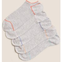 M&S Collection 5 Pair Pack Trainer Liner Socks