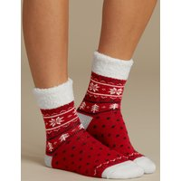 M&S Collection 2 Pair Pack Supersoft Bedsocks