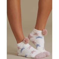 M&S Collection 2 Pair Pack Pom Pom Bedsocks