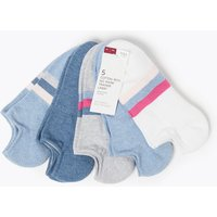 M&S Collection 5 Pair Pack No Show Trainer Liner Socks