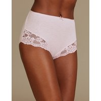 M&S Collection Cotton Rich Lace Embroidered Full Briefs