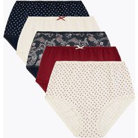 M&S Collection 5 Pack Floral Full Briefs