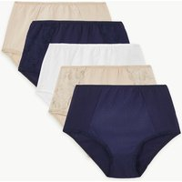 M&S Collection 5 Pack Cotton Rich Full Briefs