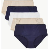 M&S Collection 5 Pack Cotton Rich Midi Knickers