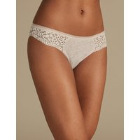 M&S Collection Cotton Rich Vintage Lace Brazilian Knickers
