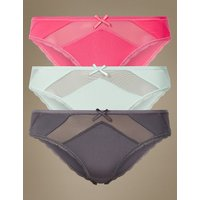 M&S Collection 3 Pack Lace Brazilian Knickers