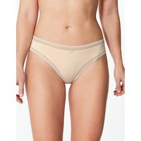 M&S Collection Lace Trim Thong