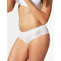 M&S Collection Louisa Lace Striped Brazilian Knickers