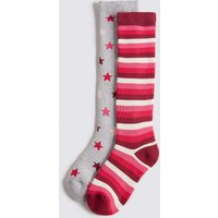 2 Pairs Of Cotton Rich Socks (2-14 Years)
