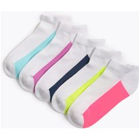 5 Pack Cotton Rich Trainer Liners Socks (3-14 Years)