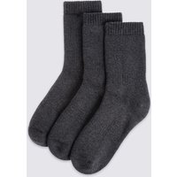3 Pairs Of Cotton Blend Thermal Socks (3-16 Years)