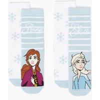 2 Pairs of Disney Frozen 2 Slipper Socks