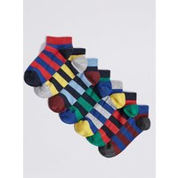7 Pairs of Trainer Liners Socks (3-16 Years)