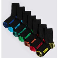 7 Pairs of Cotton Rich Socks (2-16 Years)