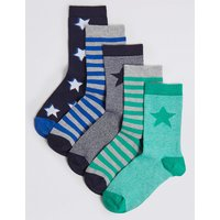 5 Pairs of Striped Socks