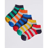 5 Pairs of Rugby Trainer Liner Socks with Freshfeet