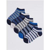 5 Pairs of Trainer Liner Socks (3-16 Years)