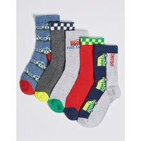 5 Pairs of Transport Socks (1-6 Years)