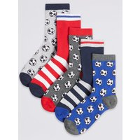 5 Pairs of Football Sport Socks
