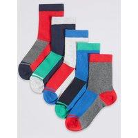 5 Pairs of Colour Block Socks