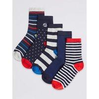 5 Pairs of Ankle Socks