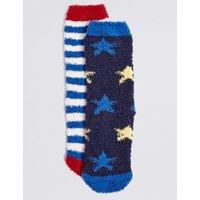 2 Pairs of Slipper Socks with Freshfeet (1-14 Years)