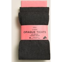 2 Pairs of 60 Denier Tights (4-14 Years)