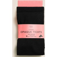 2 Pack Tights 100 Denier with Freshfeet (6-14 Years)