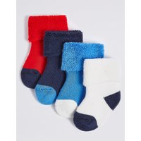 4 Pairs Of Socks With Staysoft (0-12 Years)