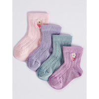4 Pairs Of Socks With Staysoft (0-24 Months)