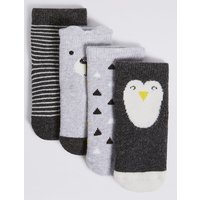 4 Pairs Of Socks With Freshfeet (0-24 Months)