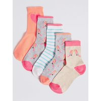 5 Pairs of Ankle Socks (1-14 Years)