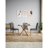 M&S Colby Round Glass Dining Table with 4 Legs P60273865