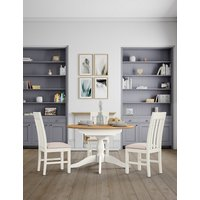 Padstow Ivory Round Extending Table