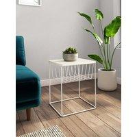 M&S Loft Storage Side Table - 1SIZE - Soft White, Soft White