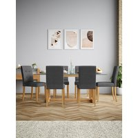 M&S Colby Rectangular Glass Dining Table P22386574