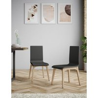 M&S Set of 2 Alderley Dining Chairs - 1SIZE - Charcoal, Charcoal T656422