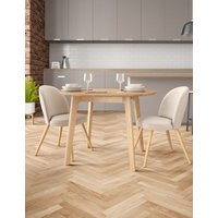 M&S Nord Round Dining Table - 1SIZE - Oak, Oak T656642A
