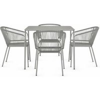 M&S Lois 4 Seater Garden Table & Chairs - 1SIZE - Grey, Grey