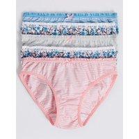5 Pack Pure Cotton Bikini Knickers (6 - 6 Years)