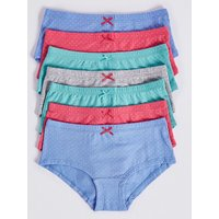 7 Pack Cotton Shorts With Stretch (6-16 Years)
