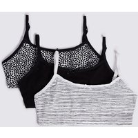 3 Pack Cotton Rich Cropped Tops (6-16 Years)